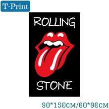Free shipping 60*90cm Rolling Stone Banner Flying 150*90cm Flag For Home Office Party Bar
