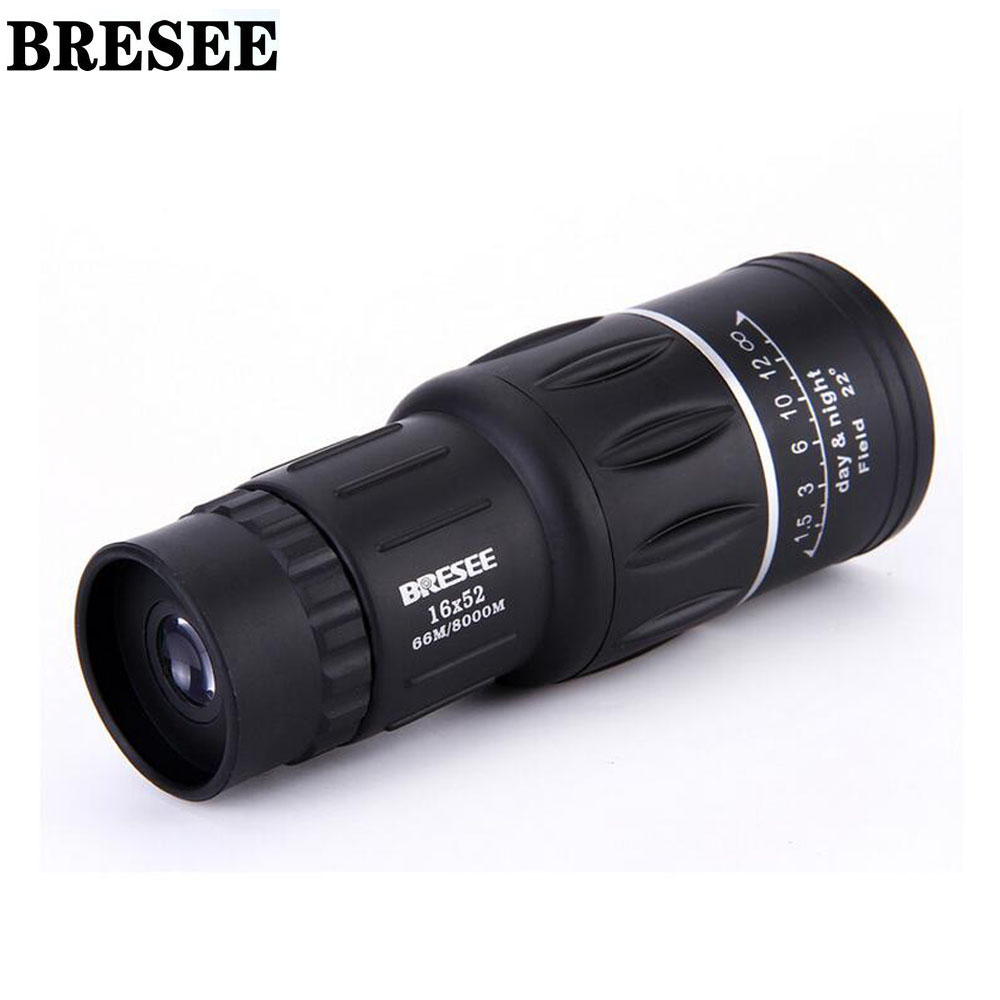 BRESEE High quality Waterproof 16X52 Dual Focus Zoom Optic Lens Day font b Night b font