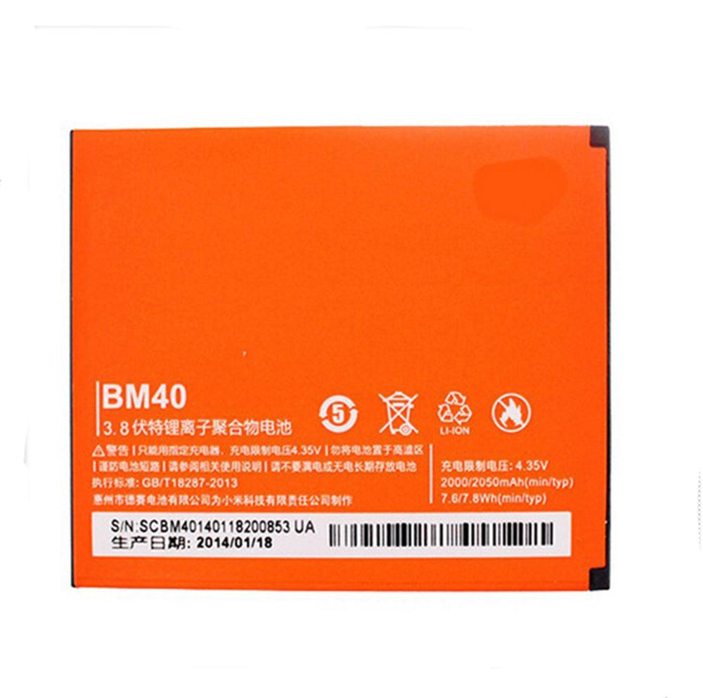 100% TESTED BM40 2050mAh Li-ion Polymer Mobile Phone Battery For Xiaomi 2A M2A Mi2A Replacement Parts