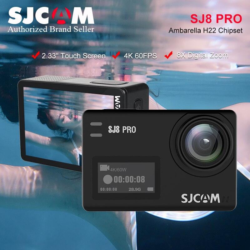 Begeistert Sjcam Sj8 Pro Action Kamera 4 K/60fps Wifi Mit 170 Grad Weitwinkel Eis 8x Digital Zoom Wasserdicht Kamera Bare-metal-version äSthetisches Aussehen Unterhaltungselektronik