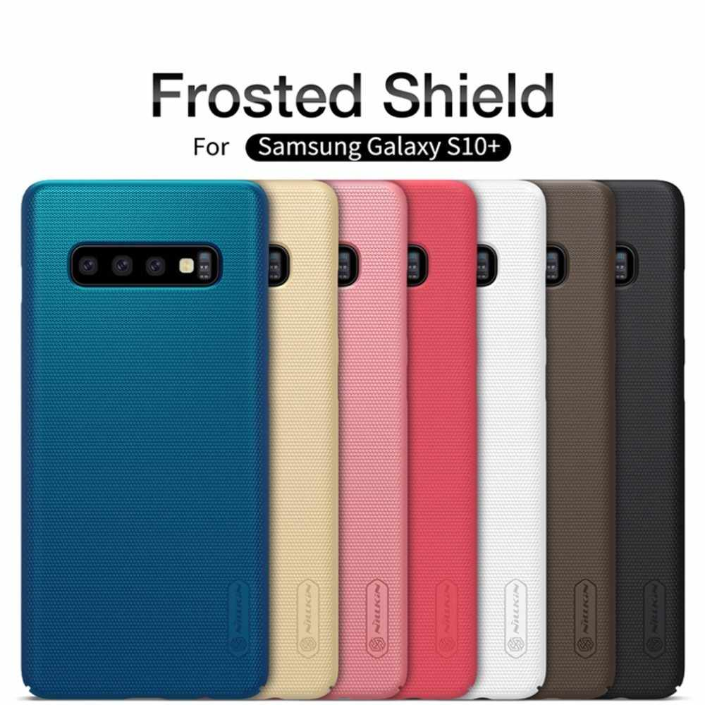 Для Samsung Galaxy S10 / S10+ Plus Чехол NILLKIN Super Frosted Shield Жесткий Чехол для Samsung S10e + телефон стенд