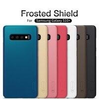 Для samsung Galaxy S10/S10 + Plus чехол NILLKIN супер матовый защитный жесткий чехол-накладка для samsung S10e чехол + подставка для телефона