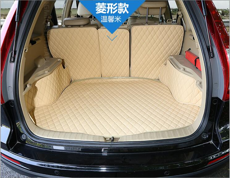 JIOYNG Full Rear Trunk Tray Liner Cargo Mat Floor Protector foot pad mats for 07-11 HONDA CRV CR-V 2007 2008 2009 2010 2011 auto floor mats for honda cr v crv 2007 2011 foot carpets step mat high quality brand new embroidery leather mats