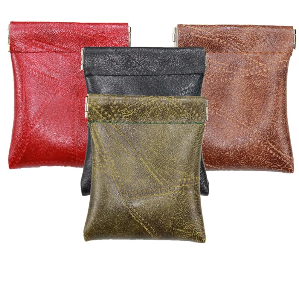 Faux Sheepskin Patchwork Pu Leather Coin Purse Women Men Short Wallet Small Bag Money Change Key Card Holder Little Party Gift