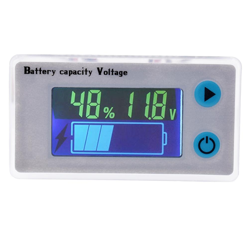 10-100V Digital Battery Capacity Tester, 12V 24V 36V 48V LCD Display Marine RV Battery Power Indicator Panel10-100V Digital Battery Capacity Tester, 12V 24V 36V 48V LCD Display Marine RV Battery Power Indicator Panel
