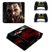 OSTSTICKER Metal Gear Solid Skin Cover For Playstation 4 Slim Protector Vinyl Sticker For PS4 Slim Console Gamepad Skins
