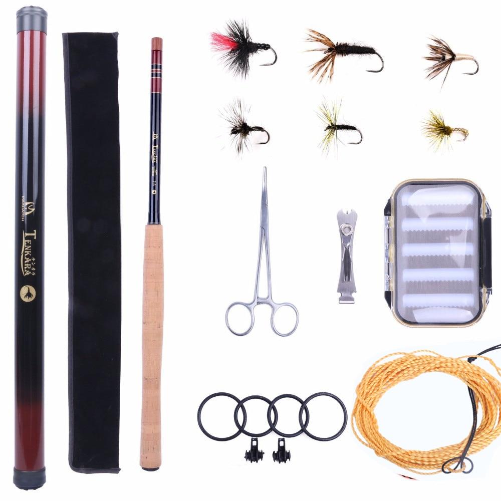 Maximumcatch Tenkara Rod Combo 11/12/13FT Fly Rod Telescoping Fishing Pole & Line & Fly & Box maximumcatch 13ft tenkara fly fishing rod 7 3 action 9 segments super light traditional tenkara fly rod