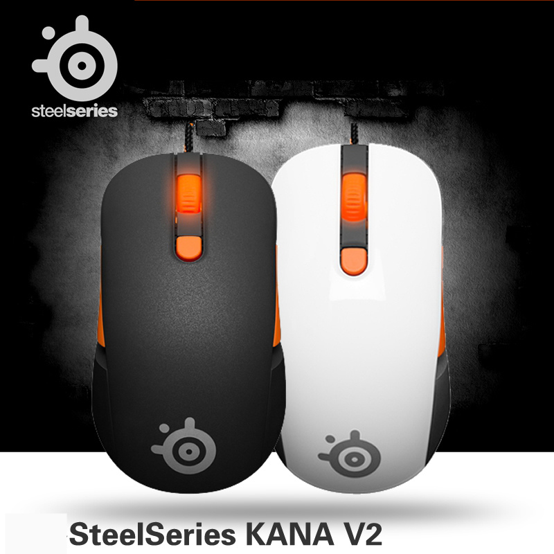 100% Original SteelSeries Kana V2 mouse Optical Gaming Mouse & mice Race Core Professional Optical Game Mouse 1