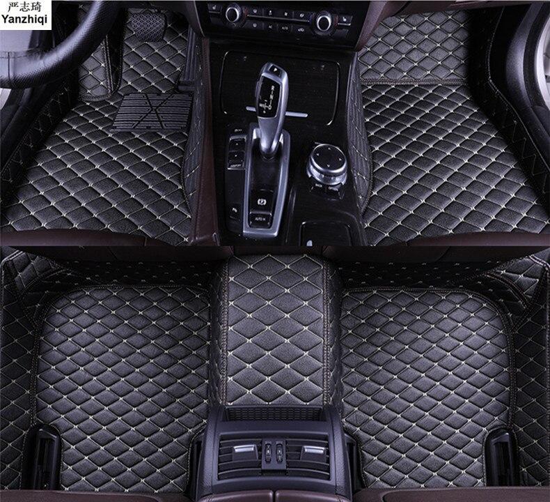 Upgrade leather car floor mats for Volkswagen VW Golf 7 / GTI R Mk7 Hatchback Hatch 2013 2018 Custom foot Pads automobile carpet