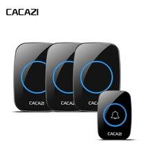 CACAZI New Wireless Doorbell Waterproof 300M Remote EU AU UK US Plug font b Door b