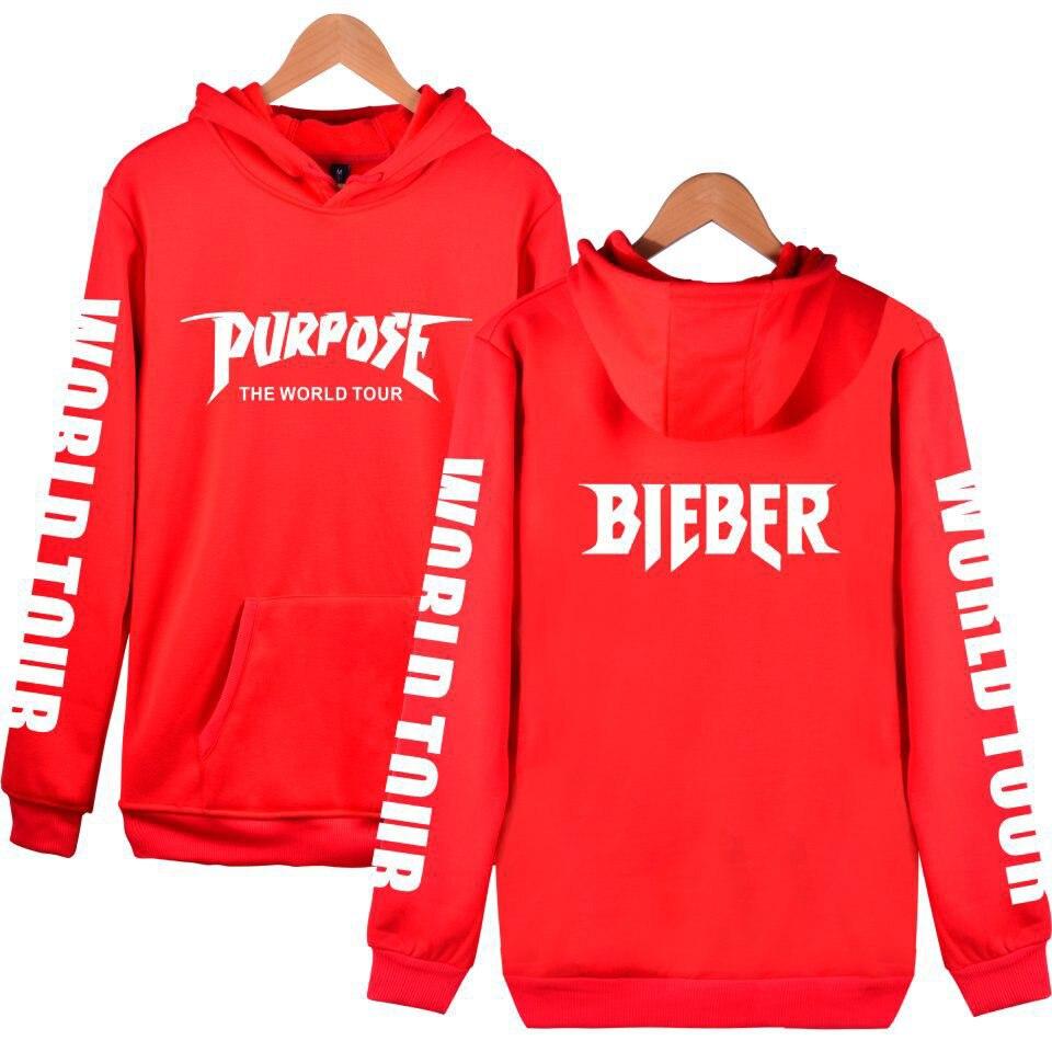 3567dd13 Justin Bieber Clothes Purpose Tour Hoodies Men Women Fashion Hoody 2019 Hip  Hop Sweatshirt Summer Style High Quality Regular