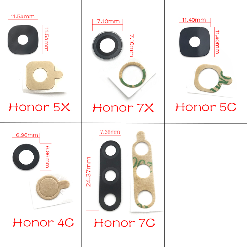 New For Huawei Honor 7c 7x 5c 5x 4c 4x Rear Back Camera Glass Lens With Sticker