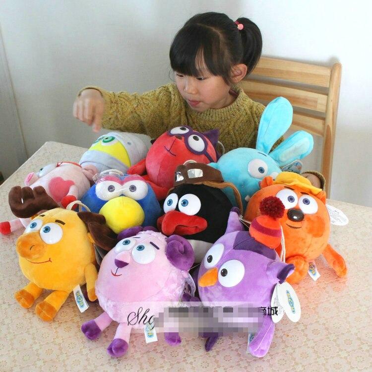 free shipping 1pcs 25cm anime Smeshariki small pet plush toys on 10 modelling optional children's day or birthday baby toys