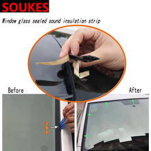 Car Windshield Edges Gap Rubber Sound Seal Strip Sticker For Cadillac CTS SRX ATS Lexus RX NX GS CT200H GS300 RX350 RX300 Saab