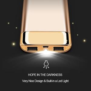 Image 2 - Внешнее зарядное устройство для Xiaomi MI iphone X, 20000 мАч, портативное зарядное устройство с 2 USB, 2019