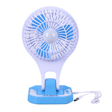 New Portable Mini USB Fan Small LED Lamp USB Light Air Cooling Desk Fan Student Dormitory Office Eye Protection USB Gadgets Fan