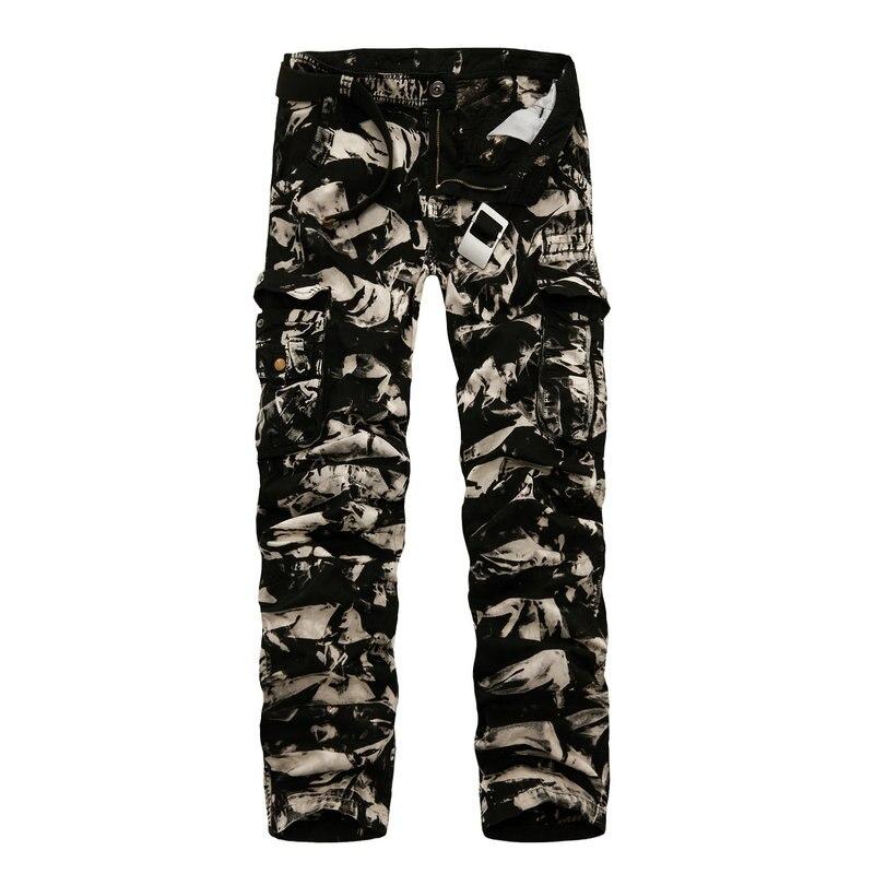 2018 Printemps Nouveau Coton Pantalon Cargo Hommes multi-poches Occasionnels Pantalon De Camouflage Minces Hommes (Taille Asiatique 29- 40)