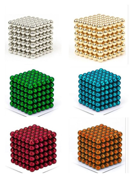 216pcs/pack 5mm Magic Magnetic Ball/ Strong NdFeB DIY Buck Balls/ Neo Cubes Puzzle Magnets 5mm magnetic ball puzzle novelty toy for diy 216pcs