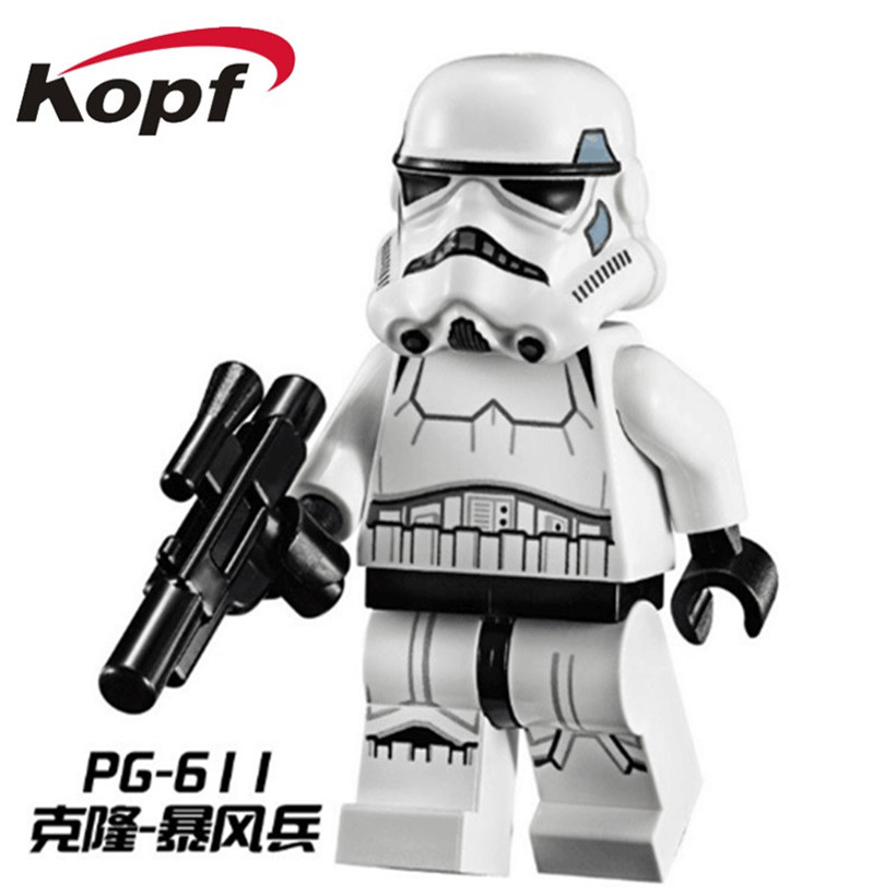 Building Blocks Single Sale Clone Trooper Figure Imperial Army Military Stormtrooper Commander Gree Appo Toys For Children PG611