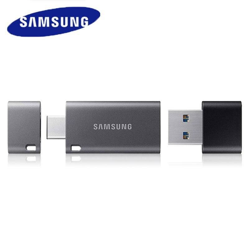 300MB//s USB 3.1 OTG Flash Drive USB Type-C Samsung Duo Plus 32G 64G 128G 256GB