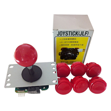 Original Sanwa Joystick JLF-TP-8YT with 6 OBSF-30 Buttons for arcade jamma game kit цена и фото