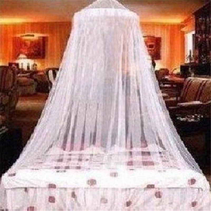 Elegant Classical Princess Students Outdoor Hang Dome Mosquito Nets For Girl Circular Lace Insect Bed Canopy Netting Curtains