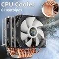 6 tubos de calor CPU enfriador de ventilador de doble cara ventilador de refrigeración silencioso disipador de calor radiador para LGA 1150/1151 /1155/1156/1366/775 para AMD