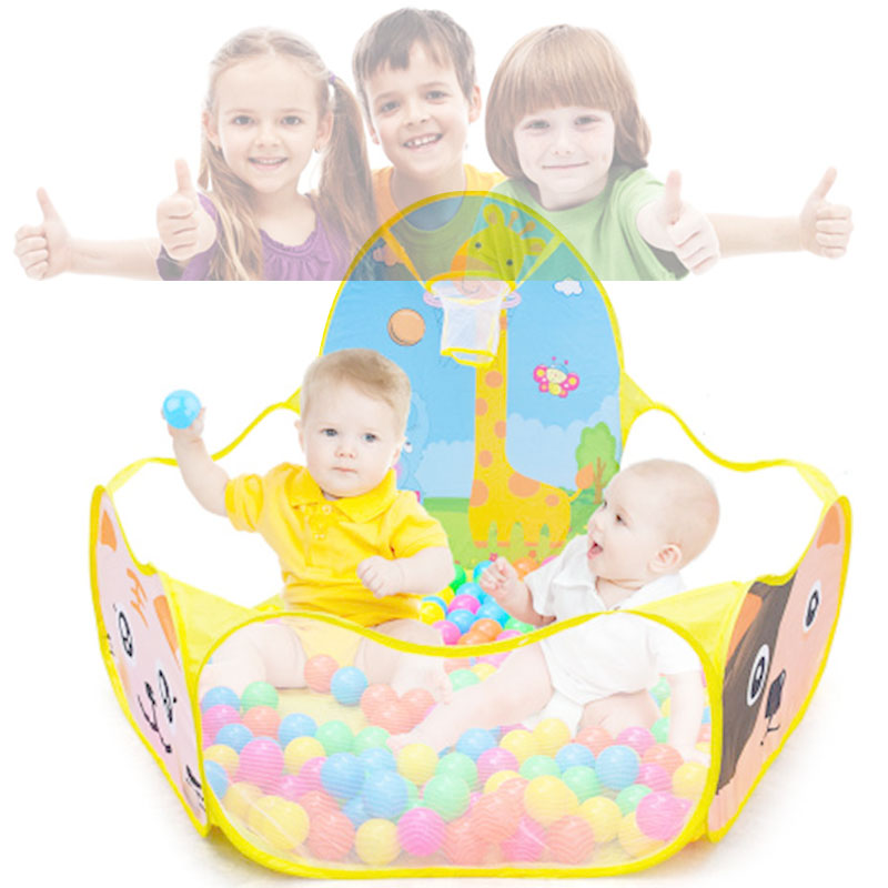 Portable Baby Playpen Children Outdoor Indoor Ball Pool Play Tent Kids Safe Foldable Playpens Game Pool Of Balls For Kids Gifts