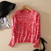 Women's Winter Yellow Sweater Round Neck Pull Femme Knitting Red Womens Jumpers 2018 100% Cashmere Women Sweaters And Pullovers