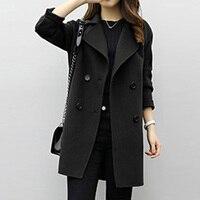 Winter Long Woolen Coat Female Jacket For Women Plus Size Cardigan Jackets Women S Vintage Casaco