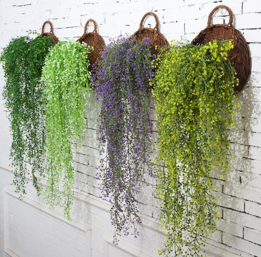 2pcs 43 hanging artificial vine rattan willow wall flower. Black Bedroom Furniture Sets. Home Design Ideas