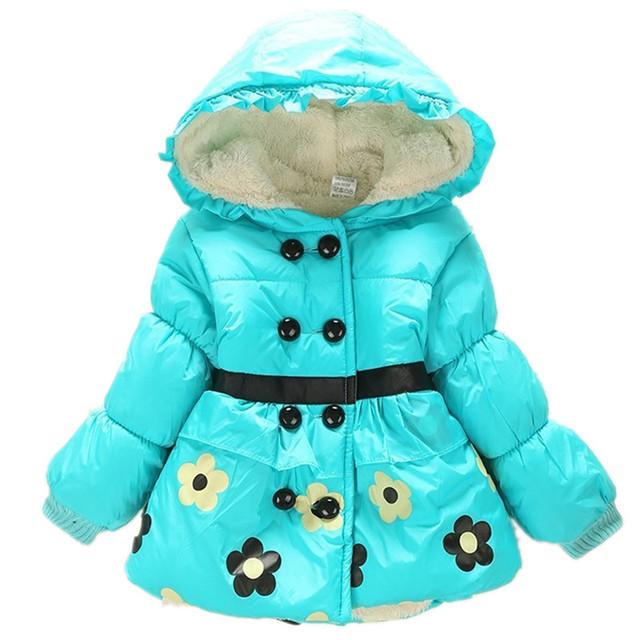 2016 Casacos de Inverno Para As Meninas Casaco de Inverno Crianças Roupas de Bebê Meninas Crianças Dot Casacos Jaquetas Roupas Da Menina Da Criança Roupa Do Bebê