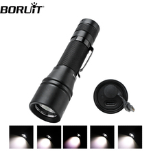 BORUit T6 LED Flashlight zoomable Focus Torch Light Mini USB Type-C Quick Charge use 18650 Camping Equipment Torch lamp