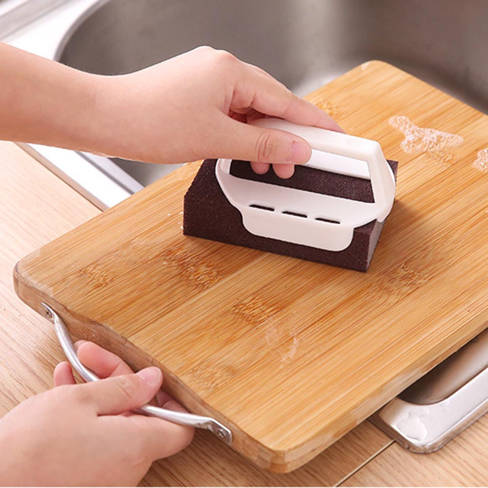 Cleaning Sponge Carborundum Brush Dish Wash Clean Pad Rust Remover Kitchen Tool in Sponges Scouring Pads from Home Garden