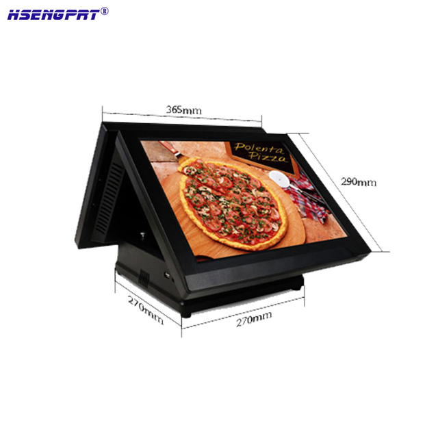 DDRIII 1066/1333 4GB all in on pos systems 15inch POS Cash Register support waterproff and dust proof support 32G SSD