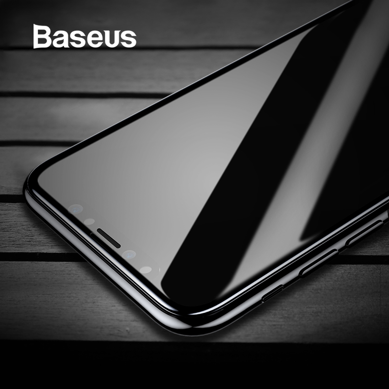 Baseus Tempered Glass For iPhone X Screen Protector 4D Surface Full Coverage Glass For iPhone X Front Film Cover 0.3mm Thin FilmBaseus Tempered Glass For iPhone X Screen Protector 4D Surface Full Coverage Glass For iPhone X Front Film Cover 0.3mm Thin Film