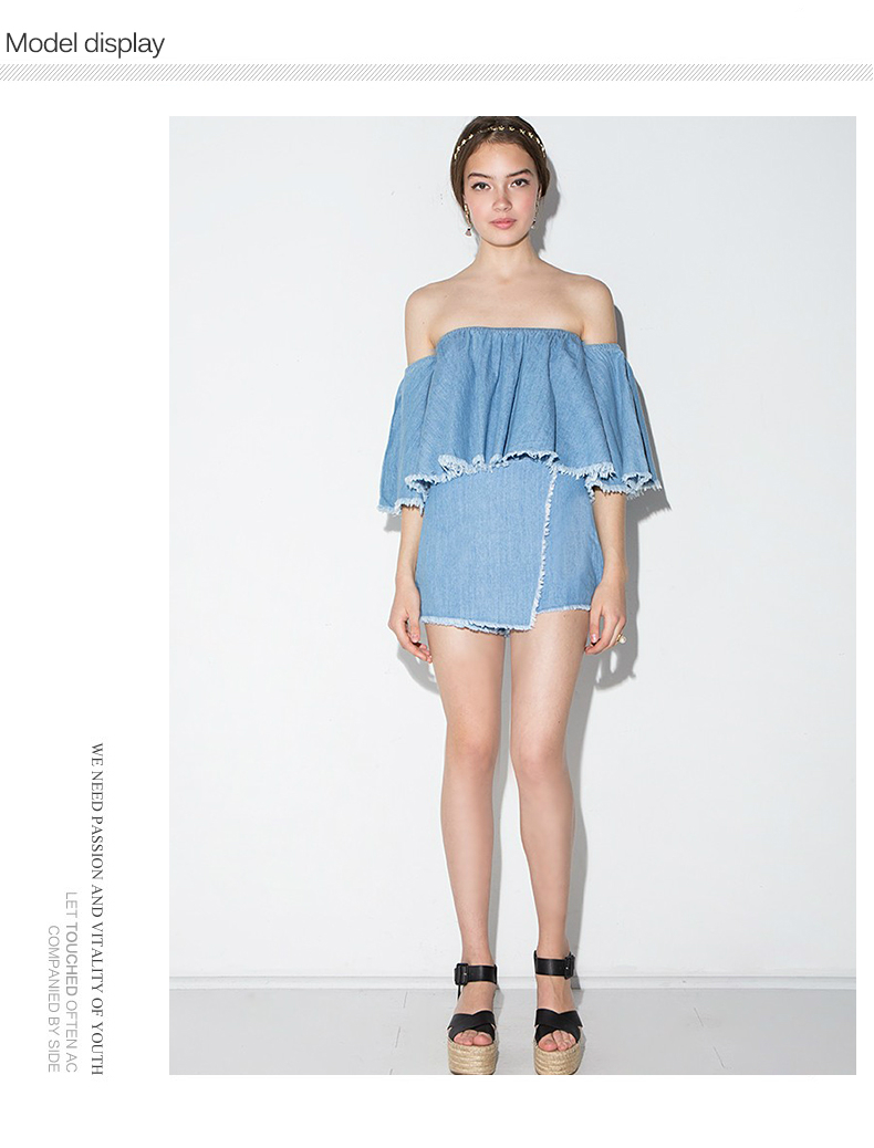 HTB1xHBIRXXXXXbrXpXXq6xXFXXXO - Slash-Neck Off Shoulder Tops Fashion Denim Shirts JKP190