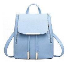 Модные женские туфли Рюкзак Повседневная кожаная школьный рюкзак для девочки-подростка школьный дорожная сумка Campus женщины сумка Школа сумка