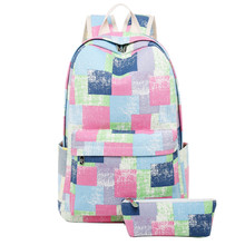 New Arrival Student School Bags 2pcs/set for Teenager Girls Multi Function Laptop Backpack women bagpacks girl bag