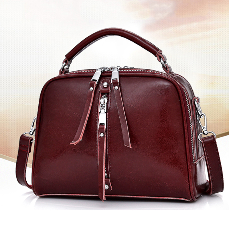Genuine Leather Women Handbags Fashion Women Bag Casual Tote Shoulder Bag Small Crossbody Bags For Women