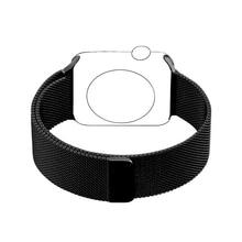 Para Apple Venda de Reloj 42mm Milanesa de Bucle de La Correa de Acero Inoxidable Adaptador de enlace Pulsera para iWatch Brazalete de la Serie 1 2 38mm negro