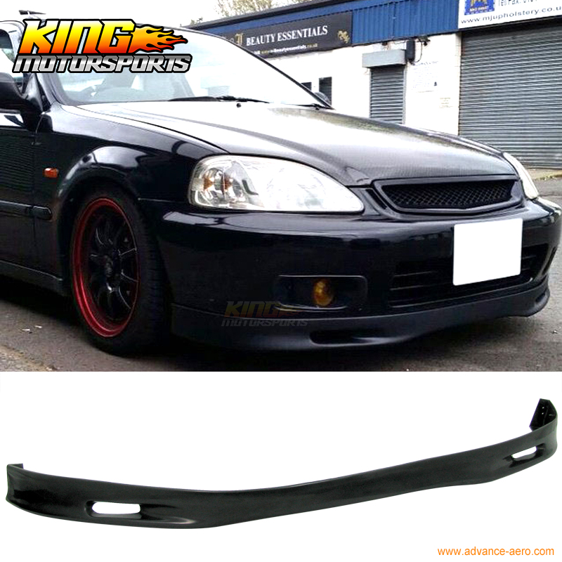 For 99-00 Honda Civic EK Front Bumper Lip Spoon Style Poly-urethane Spoiler PU купить в Москве 2019