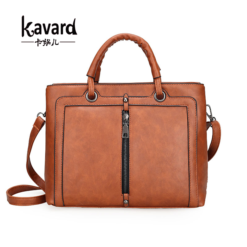 Luxury Brand Retro Vintage Women's Bag Brown Tote Shoulder Ladies Hand Bags Designer Handbags High Quality Pu Leather Bags Women cooskin luxury retro vintage bag designer handbags high quality cute women leather famous brand tote shoulder office hand bag