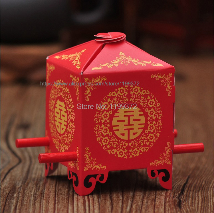 8539 5 De Réduction500 Pièces Rouge Mariage Berline Chine Mariage Nuptiale Bomboniere Favour Gâteau Cookie Lolly Cadeau Boîte De Bonbons