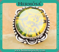 Special New Deisgn Natural Dichroic Glass Silver 925 Trendy Men Ring Sz.8 GM1393 Freeshipping