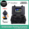 100M Cable Underwater Fish Finder SONY CCD 12Pcs White Leds Camera Nightvision Fishing Camera With DVR