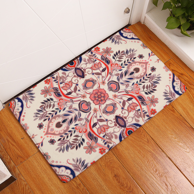Zeegle Geometric Abstract Printed Welcome Door Mats Kitchen Absorbent Area Rug Bedroom Bedside Mats Antil-slip Bathroom Carpet