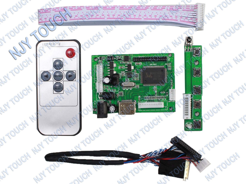 HDMI Remote LCD Controller Driver Board kit For 15.6inch LP156WH4(TL)(A1) 1366x768 LCD Panel vga hdmi lcd controller board for lp156wh4 tpa1 lp156wh4 tpp1 lp156wh4 tpp2 15 6 inch edp 30 pins 1 lane 1366x768