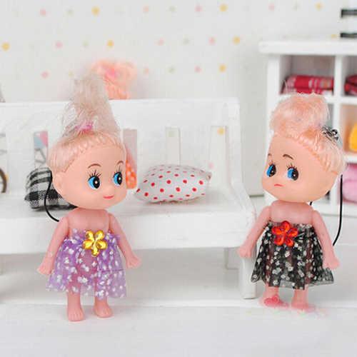 1 шт. многоцветная мини-ddung кукла лучшая игрушка подарок для девочки запутанная кукольная цепочка телефон кулон орнамент случайный цвет
