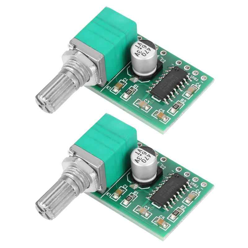 2pcs PAM8403 Mini USB 5V Low Noise Audio Power Digital Amplifier  High-Fidelity Sound Quality Board with Volume Control